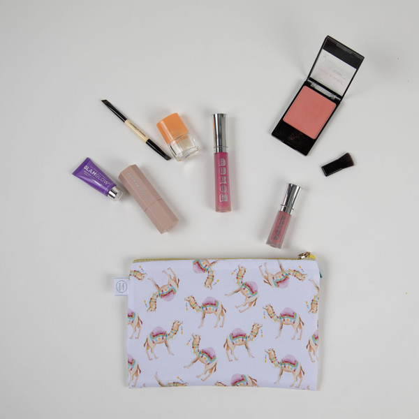 Camel Print Makeup Bag