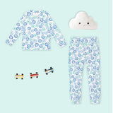 LUXE LINE: Toddler Snug Fit PJs (Blue Evil Eye)