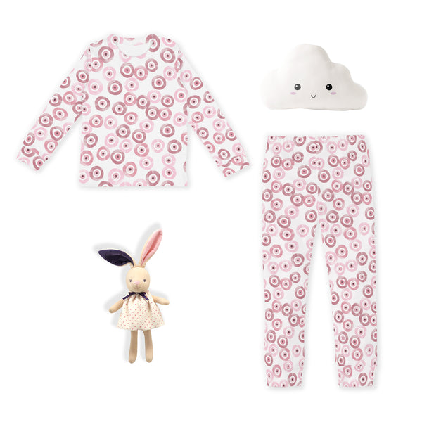 LUXE LINE: Toddler Snug Fit PJs (Mauve Evil Eye)