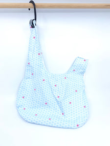 Knot Bag | Scallop Waves and Sakura Light Blue | Project Bag for Knitters