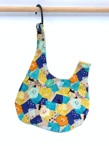 Knot Bag | Sassy Cat and Geometric Patterns || Knitting Project Bag