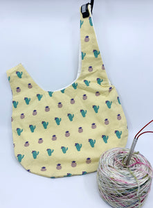 Knot Bag | Cacti on Butter Yellow