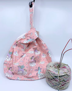 Knot Bag | Mystical Unicorns on Pastel Pink