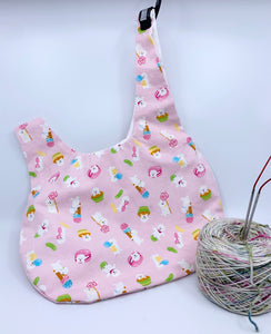 Knot Bag | Sweets Bichon on Pink