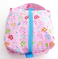 Small Box Bag || Colourful April Showers Umbrellas || Japanese Print Project Bag