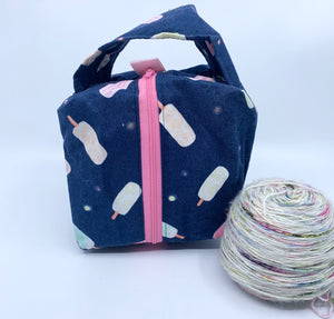 Small Box Bag | Ice Pops on Navy