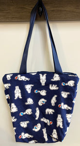 Big Bag | Polar Bears on Navy
