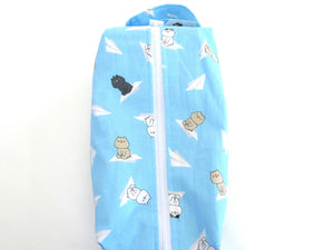 Large Box Bag || Sonoda-kun on Paper Airplanes on Light Blue