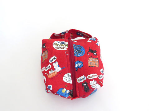 Small Box Bag || COMPUTAR Geek Cats on Red