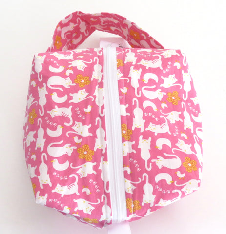 Small Box Bag || Come Hither Cats on Pink