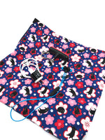 Fabric Envelope || Sassy Cat Amongst Abstract Cherry Blossoms