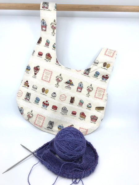 Knot Bag || Sweets Party with White Lace || Japanese Fabric Project Bag