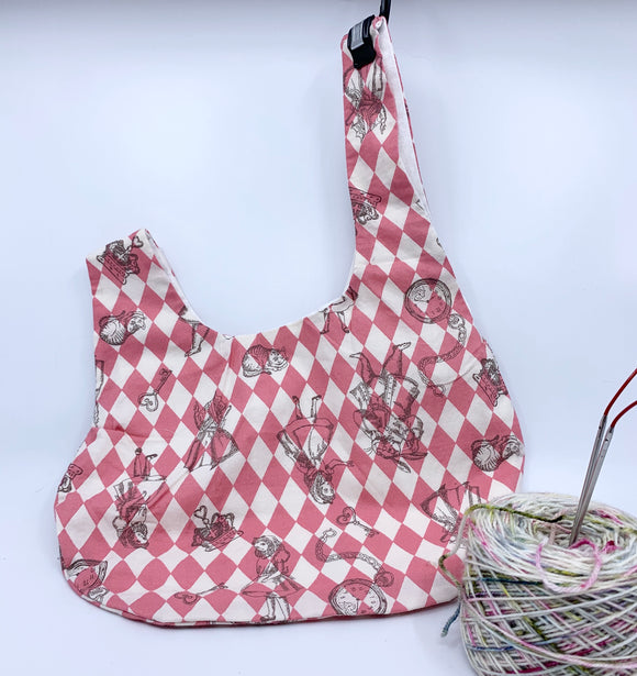 Knot Bag | Alice in Wonderland on Pink Diamonds