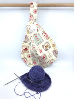 Knot Bag || Salon de The || Japanese Fabric Project Bag