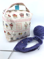 Small Box Bag || Sweets Party with Pink Lace || Japanese Fabric Project Bag