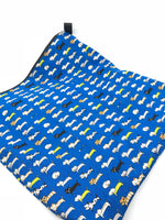 Fabric Envelope || Lined Up Cats on Blue
