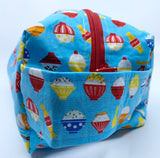 Large Box Bag | Bowls of Rice on Light Blue