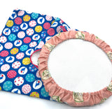 Fabric Envelope || Circles of Japan on Bright Blue