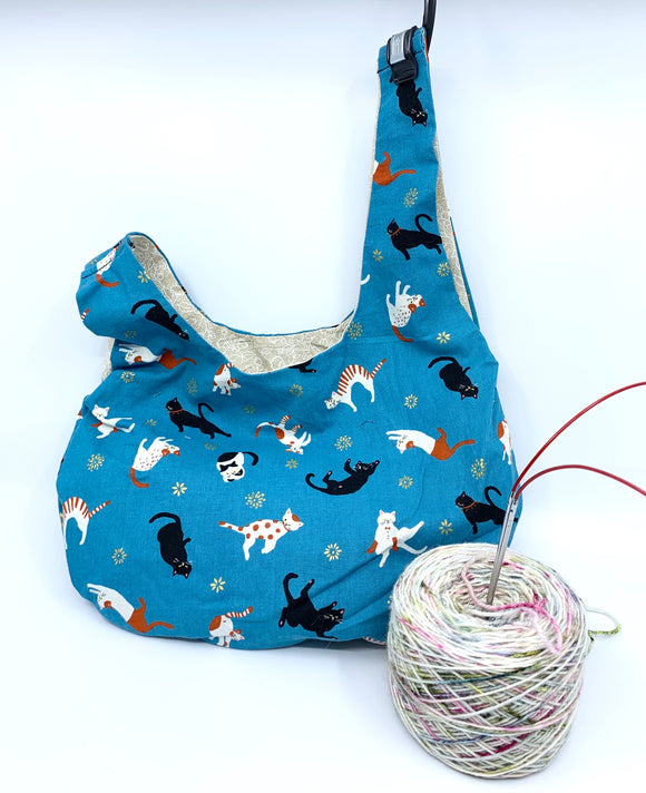 Knot Bag | Cats Doing Things on Teal
