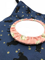 Fabric Envelope || Simple Sassy Ca on Navy with Gold Highlighted Flowers