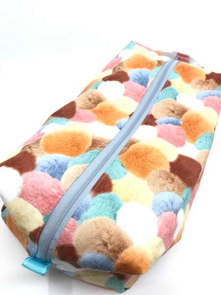 Large Box Bag || Alpaca-Style Pom Poms || Project Bag