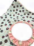 Fabric Envelope || Cake Pops on Mint Swirl Background
