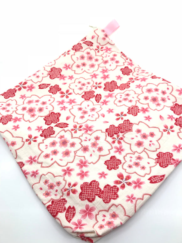 Fabric Envelope || Sakura on Textured Cotton