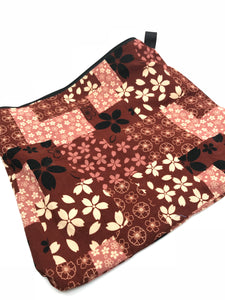 Fabric Envelope || Japanese Cherry Blossom on Browns