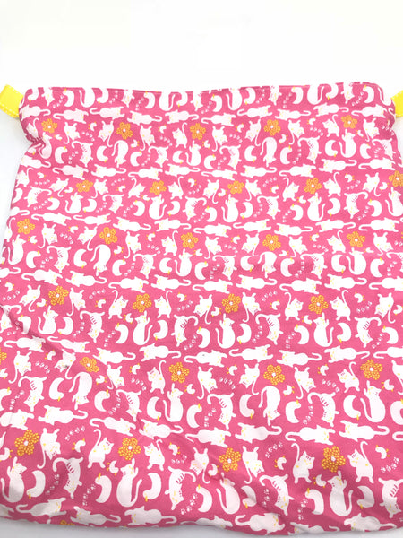 Fabric Envelope || Come Hither Cat on Bright Pink