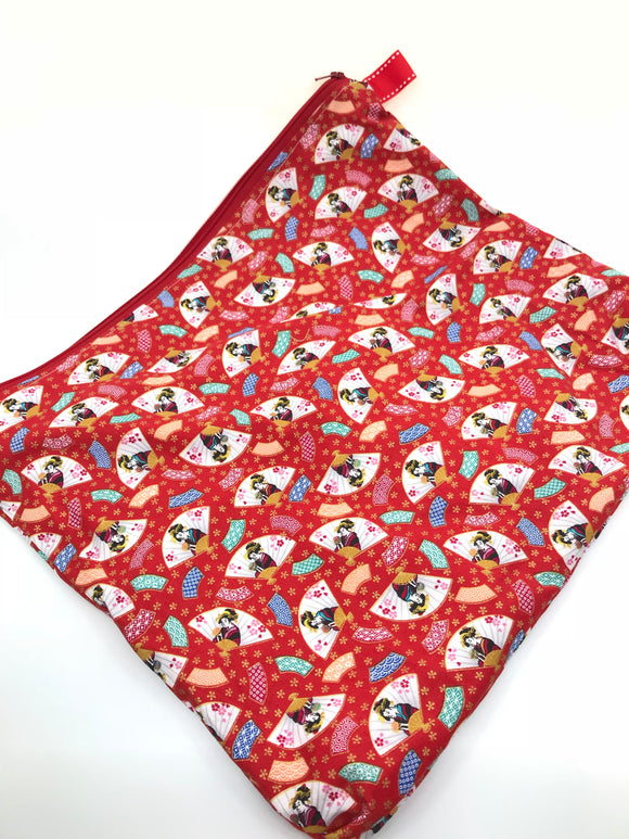 Fabric Envelope || Geisha Fans