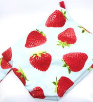 Big Bag || Strawberries on Sky Blue