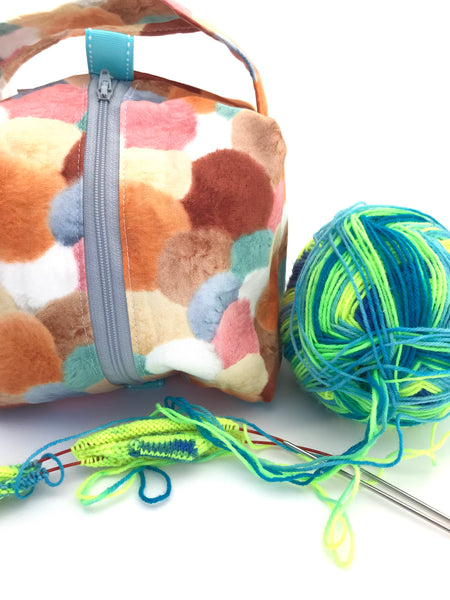Small Box Bag || Alpaca-Style Pom Poms|| Project Bag