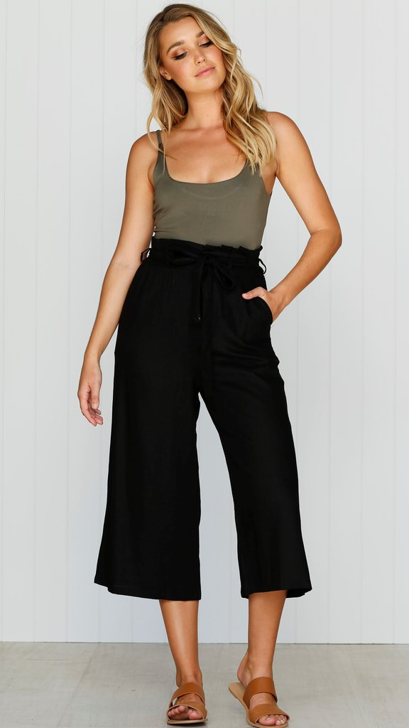 TIA PANTS BLACK - Lily and Fox Boutique