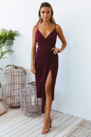 NEO DRESS WINE - Lily and Fox Boutique