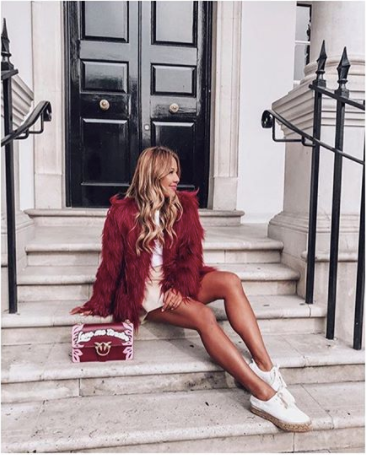 FAUX FUR COAT - WINE - Lily and Fox Boutique