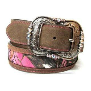 Tony Lama Women's Belt - Brown Cowgirl Faith - Made in USA