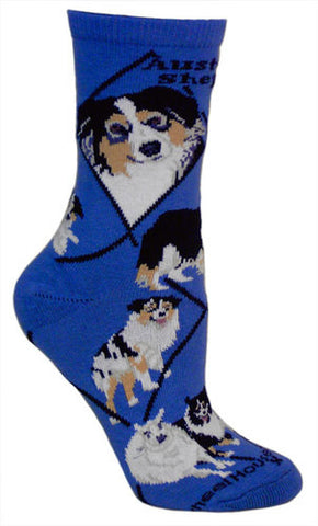 Greyhound Socks for Men and Women - Blue - Made in USA - Dog Socks