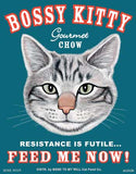 Bossy Kitty (Gray Tabby) - Cat Print