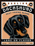 Dachshund (Black and Tan) - Dog Print
