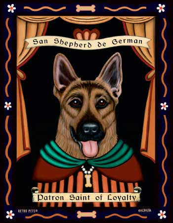 German Shepherd - Dog Art Print - Picture Made in USA - Determined German Shepherds Stout (ONLY 1 LEFT)