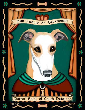 Italian Greyhound - Dog Art Print - Picture Made in USA - Cuddle Dog Comforters