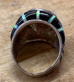 Opal and Onyx Ring Size 15
