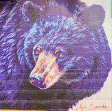 Bear on Wood Print