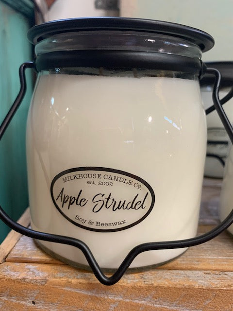 Milk House Candles 16 oz Butter Jar Scents,  Apple-Nordic