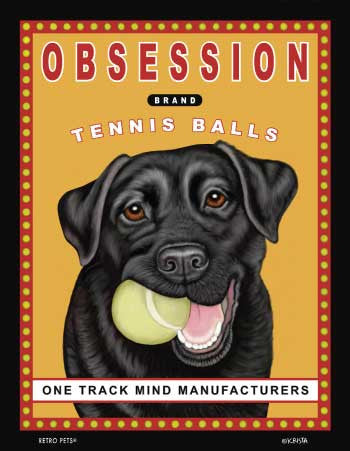 Labrador Retriever - Yellow - Dog Art Print - Picture Made in USA - Obsession Brand Tennis Balls