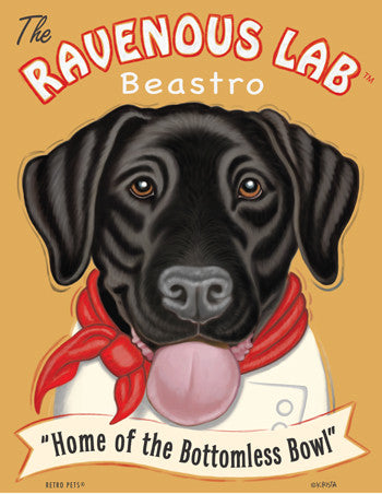 Labrador Retriever - Chocolate - Dog Art Print - Picture Made in USA - Chocolate Charmer Confections (ONLY 1 LEFT)
