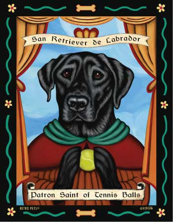 Labrador Retriever - Black - Dog Art Print - Picture Made in USA - Obsession Brand Tennis Balls