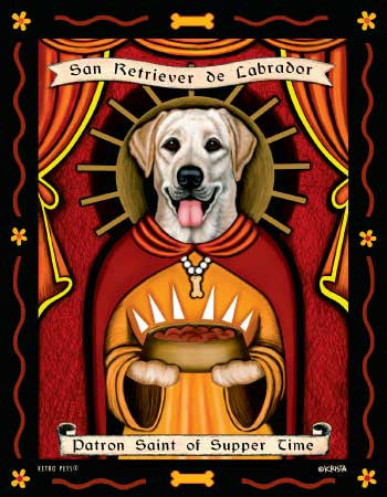Dachshund - Red - Dog Art Print - Picture Made in USA - Patron Saint of Dachshund Devotion (ONLY 1 LEFT)