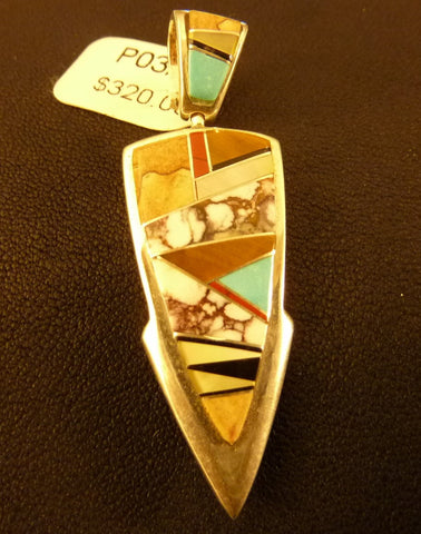 Native American Jewelry - Sterling Silver, Coral and Turquoise Inlay Ring - Many Sizes - Hand Made in USA