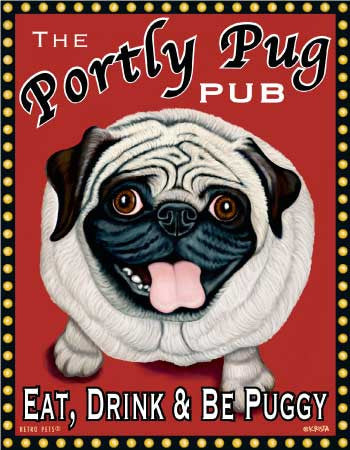 Pug - Black - Dog Art Print - Made in USA - The Priceless Pug – Good Time Tavern